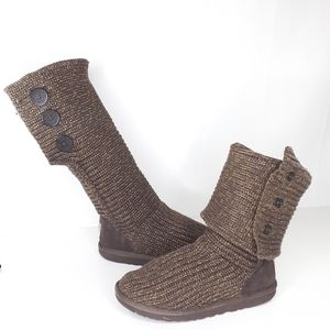 UGG CARDY KNITTED CONVERTIBLE BOOTS TALL SHORT 8